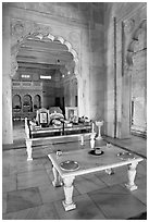 Memorial to Jaswant Singh, inside Jaswant Thada. Jodhpur, Rajasthan, India ( black and white)