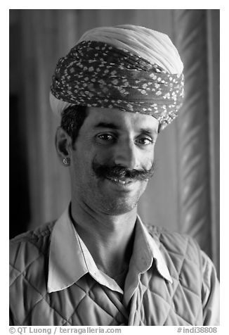 Black and White Picture Photo  Man with turban 5066db19caf