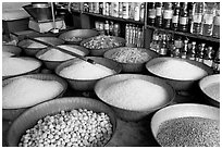 Grains and other groceries, Sardar market. Jodhpur, Rajasthan, India ( black and white)