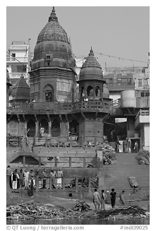 Manikarnika Ghat, the main cremation ghat. Varanasi, Uttar Pradesh, India