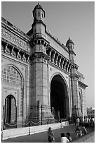 Gateway of India, early morning. Mumbai, Maharashtra, India (black and white)