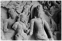 Marriage of Shiva and Parvati. Mumbai, Maharashtra, India (black and white)