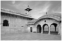 Khas Mahal, Agra Fort. Agra, Uttar Pradesh, India (black and white)