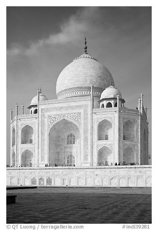 Black And White Picture Photo Tomb Taj Mahal Agra