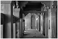 Corridor. Fatehpur Sikri, Uttar Pradesh, India (black and white)