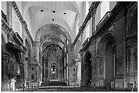 Church of St Francis of Assisi interior, Old Goa. Goa, India ( black and white)