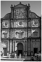 Basilica of Bom Jesus, Old Goa. Goa, India ( black and white)