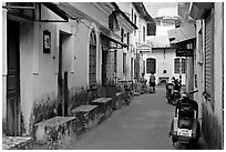 Alley, Panjim (Panaji). Goa, India ( black and white)