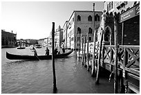 Grand Canal with Traghetto. Venice, Veneto, Italy ( black and white)