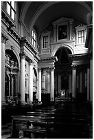 Church interior. Veneto, Italy ( black and white)