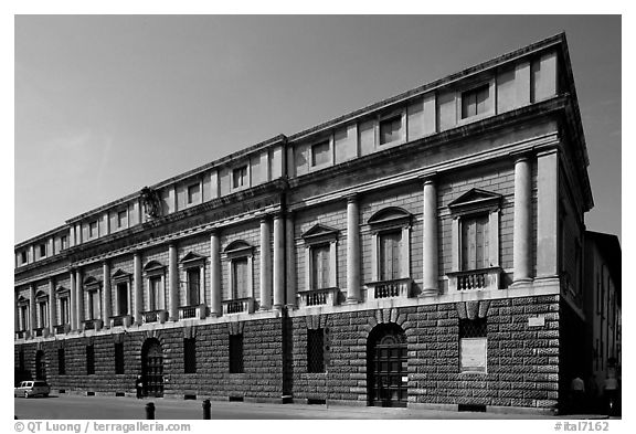 Palazzo Porto-Breganze, designed by Palladio and built by Scamozzi. Veneto, Italy (black and white)