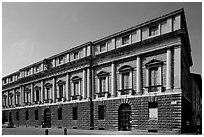 Palazzo Porto-Breganze, designed by Palladio and built by Scamozzi. Veneto, Italy ( black and white)