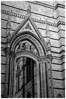 Gate in Duomo wall. Siena, Tuscany, Italy ( black and white)
