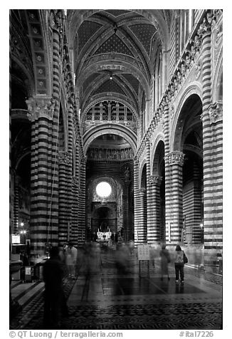 Inside of the Siena Cathedral (Duomo). Siena, Tuscany, Italy