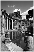 Teatro Marrittimo, Villa Hadriana. Tivoli, Lazio, Italy (black and white)