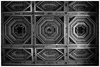 Ornemented ceilling, Villa d'Este. Tivoli, Lazio, Italy (black and white)