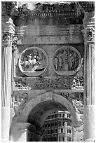 Arch of Constantin, Roman Forum. Rome, Lazio, Italy (black and white)