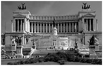 Victor Emmanuel Monument, built to honor Victor Emmanuel II, the first king of unified Italy. Rome, Lazio, Italy (black and white)