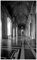 Entrance of Basilica San Pietro. Vatican City (black and white)