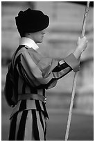 Swiss guard. Vatican City ( black and white)