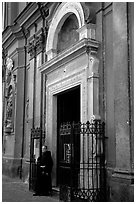Chiesa di Sant' Angelo a Nilo. Naples, Campania, Italy ( black and white)