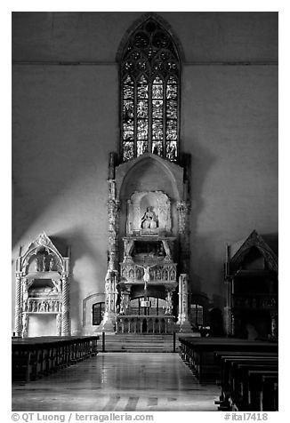 Altar. Naples, Campania, Italy (black and white)