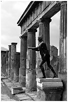Tempio di Apollo (Temple of Apollon). Pompeii, Campania, Italy ( black and white)