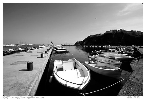 Harbor, Agropoli. Campania, Italy (black and white)
