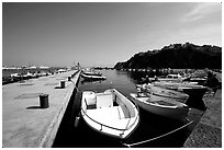 Harbor, Agropoli. Campania, Italy ( black and white)