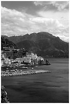 Amalfi. Amalfi Coast, Campania, Italy ( black and white)