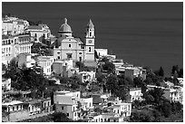 Praiano. Amalfi Coast, Campania, Italy ( black and white)
