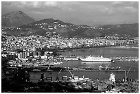 Salerno. Amalfi Coast, Campania, Italy ( black and white)