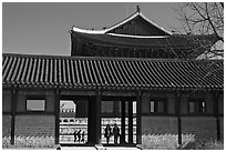 Gyotae-jeon, Gyeongbokgung royal Joseon palace. Seoul, South Korea ( black and white)