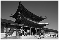 Heugnyemun gate, Gyeongbokgung. Seoul, South Korea (black and white)