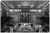 Classical music concert, Incheon international airport. South Korea ( black and white)