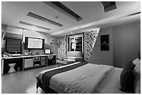Love hotel room. Daegu, South Korea ( black and white)