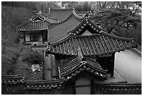 Okyeon pavilion. Hahoe Folk Village, South Korea ( black and white)