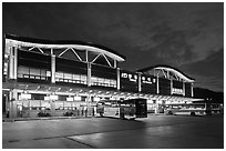 Bus terminal, Andong. South Korea (black and white)