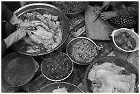 Kimjang kimchi prepared in early winter. Gyeongju, South Korea ( black and white)