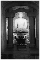 Buddha inside Seokguram Grotto. Gyeongju, South Korea ( black and white)