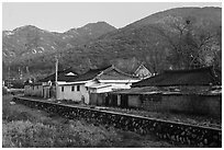 Yongjang-ri village. Gyeongju, South Korea ( black and white)