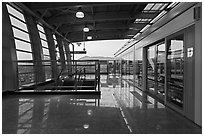 Subway platform, Busan. South Korea (black and white)