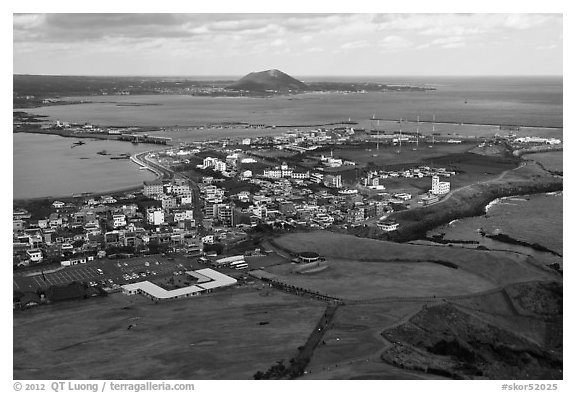 Seongsang-ri. Jeju Island, South Korea (black and white)
