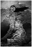 Lava column, Geomunoreum. Jeju Island, South Korea ( black and white)