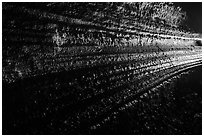 Lava flowlines,  Manjanggul. Jeju Island, South Korea (black and white)
