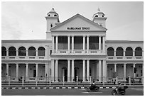 Mahkamah Tinggi colonial-style supreme court. George Town, Penang, Malaysia ( black and white)