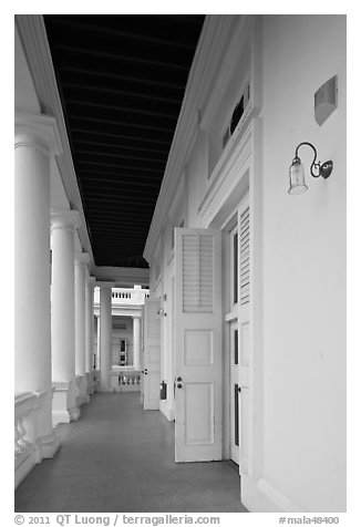 Gallery outside supreme court. George Town, Penang, Malaysia