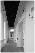 Gallery outside supreme court. George Town, Penang, Malaysia ( black and white)