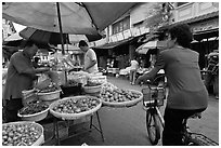 Street market, chinatown. George Town, Penang, Malaysia (black and white)
