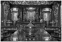 Poh Hock Seah altar, Hock Tik Cheng Sin Temple. George Town, Penang, Malaysia ( black and white)